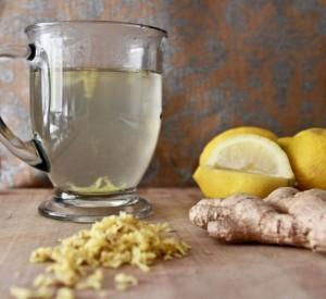hot lemon ginger tea